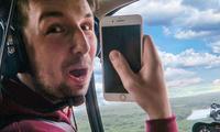 Apple iPhone7'ни вертолётдан ташлаб кўришди (Видео)