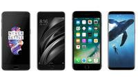 OnePlus 5, Mi6, iPhone 7+, Galaxy S8: флагманларга хос 6 жиҳатни таққослаймиз
