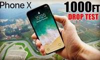 Эксклюзив видео: iPhone X'ни 300 метрлик баландликдан ташласа нима бўлади?