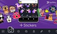 SwiftKey клавиатурасига GIF ва стикерлар қўшилди! (+видео)