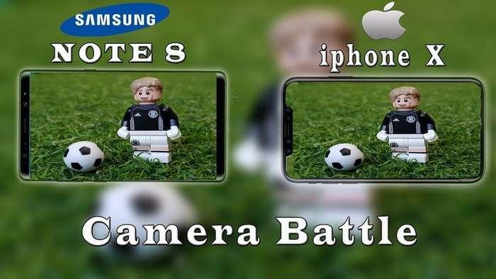 Galaxy Note 8 ҳамда iPhone X'нинг фото ва видео суратга олиши ўзаро таққосланди (+видео)