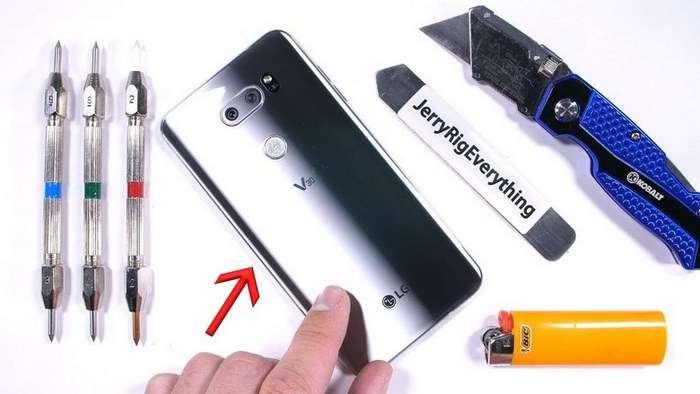 LG V30 смартфони тиғ ва олов синовида! (видео)