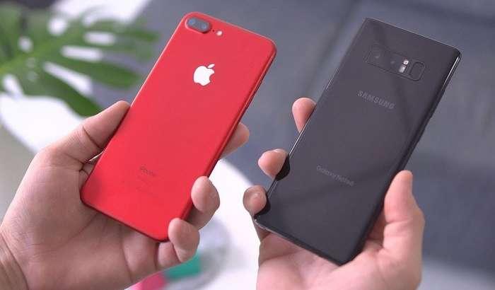 Galaxy Note 8 ва iPhone 7 Plus: қай бири яхшироқ?