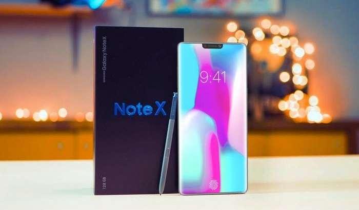 Қарши олинг: Samsung Galaxy Note X – мутлақо ромсиз экранида бармоқ изи сканерли смартфон!