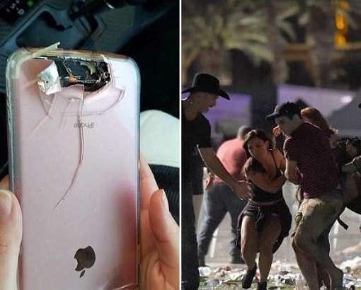 Лас-Вегас қирғинида бу смартфон эгасини асраб қолди