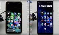 КУТИЛМАГАН ВИДЕО: 2018 йилги энг арзон iPhone энг қиммат ва қудратли Samsung флагманини «ер тишлатди»!