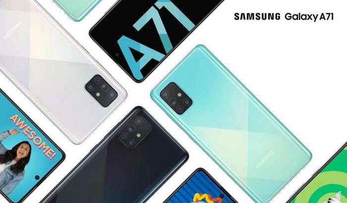 Galaxy A71 тақдим этилди: процессори кучли, ўзи катта, юпқа ва енгил смартфон