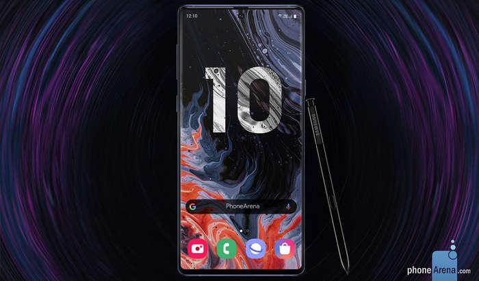 Galaxy Note 10 суратларда: 6,66 дюймлик экран, тўртталик камера ва тугмачасиз корпус