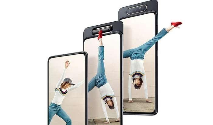 Galaxy A80 тақдим этилди: айланувчи камера, янги Snapdragon 730 чипи ва... юқори нарх! (+видео)