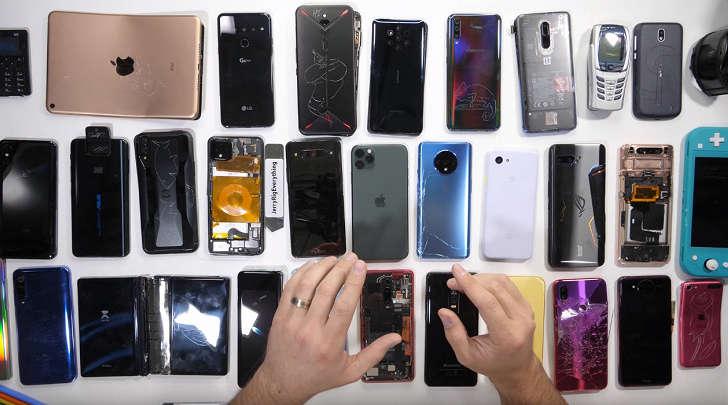 JerryRigEverything видеорейтинги: 2019 йилнинг энг, энг, энг... смартфонлари