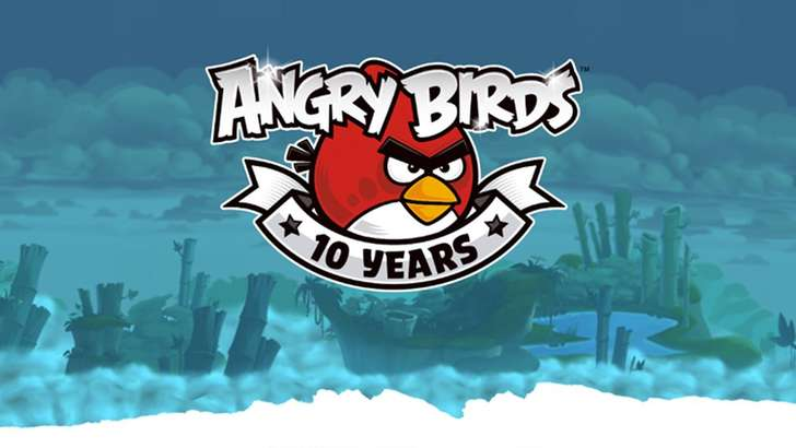 Angry Birds ўн ёшда