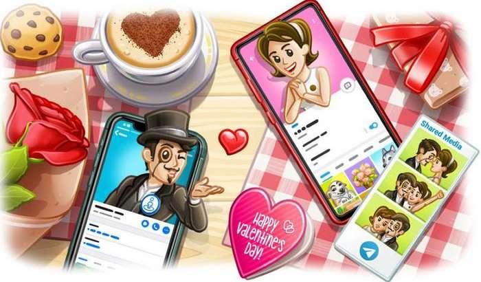 Telegram 5.15: янгиланган профил, атрофдагиларни топиш ва Валентин кунига анимацияли эмодзилар!
