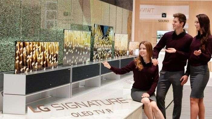 CES 2019: LG дунёдаги илк ўралувчи «ақлли» телевизорни тақдим қилди!