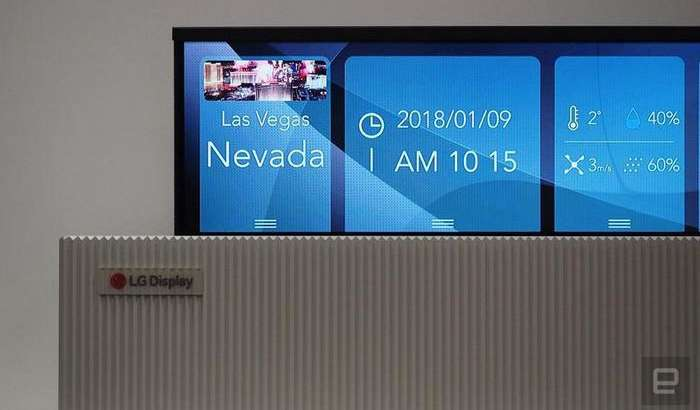 LG аллақачон буклама смартфондан ташқари ўралувчи OLED-телевизор ҳам тайёрлаган! (+«жонли» видео)