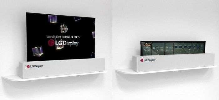 Рулон шаклида ўралувчи LG телевизори 2019 йилиёқ сотувга чиқади! (+«жонли» видео)