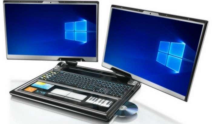 Dell иккита мониторли ва мутлақо ўзгача конструкцияли ноутбук тайёрлаяпти!