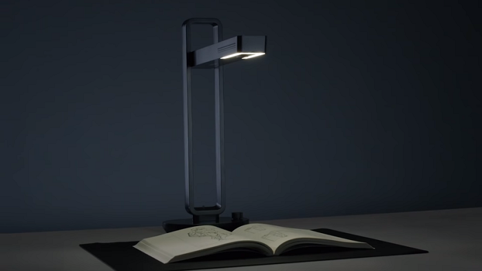 Aura: ҳужжатларни сканерлаш энди стол лампаси орқали амалга оширилади