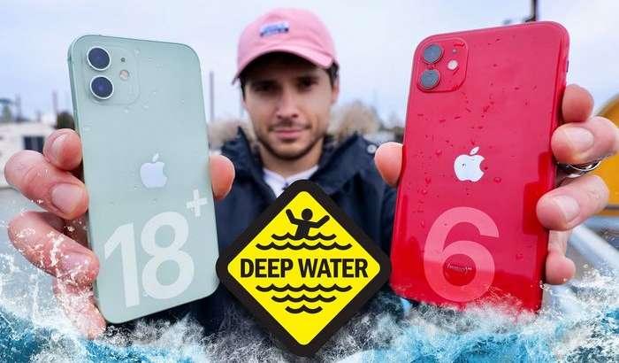Жонли тест видеоси: iPhone 12 ва iPhone 11 сув остида синаб кўрилди!